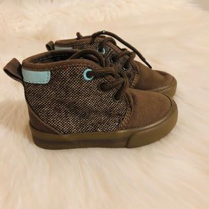 Toddler boy twill high top shoes